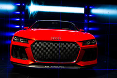 Begrepp för laserlight för Audi sportquattro Royaltyfria Bilder