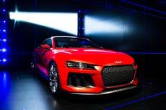 Begrepp för laserlight för Audi sportquattro Fotografering för Bildbyråer