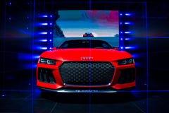 Begrepp för laserlight för Audi sportquattro Arkivfoto