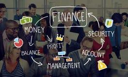 Begrepp för ledning för analys för finansaffärsredovisning Royaltyfri Bild