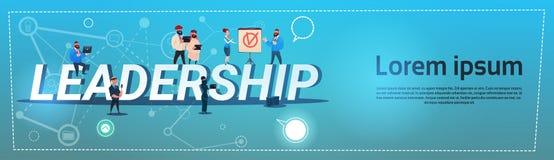 Begrepp för ledning för ledarskap för lopp för blandning för affärsfolk royaltyfri illustrationer