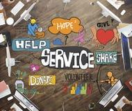 Begrepp för leverans för kund för hjälp för tjänste- service royaltyfri illustrationer
