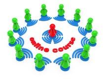Begrepp för on-line utbildning för internet. Stock Illustrationer