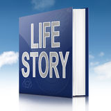 Begrepp för livberättelse. royaltyfri illustrationer