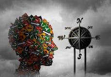 Begrepp för livkompasspsykologi stock illustrationer