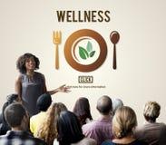 Begrepp för livsstil för WellnessWellbeing vård- sunt arkivbilder