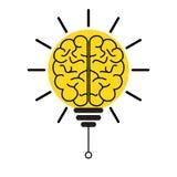 Begrepp för ljus kula för hjärna av innovation och fantasi royaltyfri illustrationer