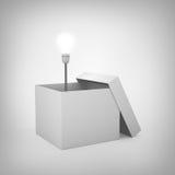 Begrepp för ljus kula utanför asken Royaltyfri Bild