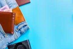 Begrepp för lopptillbehördräkter för tur för sommarsemester PA Arkivfoto