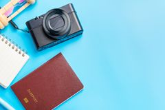Begrepp för lopptillbehördräkter för tur för sommarsemester PA royaltyfria foton