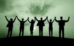 Begrepp för lycka för framgång för beröm för affärsfolk arkivfoton