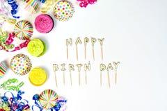 Begrepp för lycklig födelsedag med kopieringsutrymme royaltyfria bilder
