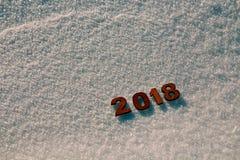 Begrepp 2018 för lyckligt nytt år royaltyfria bilder