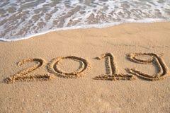 Begrepp 2019 för lyckligt nytt år royaltyfri fotografi
