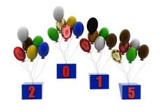 begrepp för lyckligt nytt år 3d Fotografering för Bildbyråer