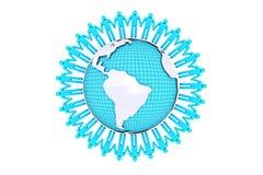 Begrepp för mänsklig anslutning runt om världen Royaltyfri Fotografi