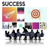 Begrepp för märke för framgång för lansering för målmål Startup Arkivfoton