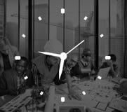 Begrepp för mått för larm för klocka för Tid ledning arkivfoton