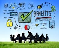 Begrepp för möte för affär för inkomst för förtjänst för fördelvinstsvinst arkivbild