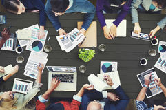Begrepp för möte för affär för marknadsföringsanalysredovisning royaltyfri bild