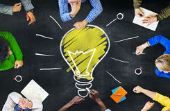 Begrepp för möte för lära för intelligens för idétankekunskap Royaltyfri Foto