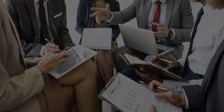 Begrepp för möte för plan för marknadsföring för diskussion för affärsfolk Arkivbilder