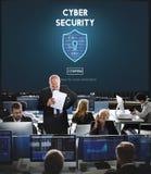 Begrepp för manöverenhet för Firewall för Cybersäkerhetsskydd royaltyfria bilder