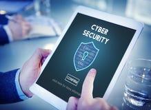 Begrepp för manöverenhet för Firewall för Cybersäkerhetsskydd royaltyfri fotografi