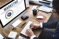 Begrepp för marknadsföringsproduktutvecklingbefordran fotografering för bildbyråer