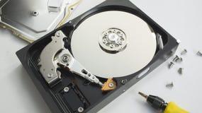 Begrepp för maskinvara för rekord för räddning för HDD-harddiskmapp Royaltyfria Foton