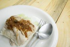 Begrepp för mat för fegt för rissoppa tomt kött för sås asiatiskt Royaltyfria Foton