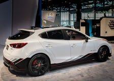 Begrepp 2014 för Mazda klubbasport 3 Arkivfoton