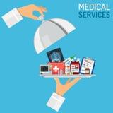 Begrepp för medicinsk service Fotografering för Bildbyråer