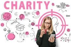 Begrepp för medvetenhet för välgörenhethjälpmedeldonation arkivbilder