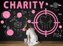 Begrepp för medvetenhet för välgörenhethjälpmedeldonation arkivfoto