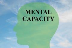 Begrepp för mental kapacitet stock illustrationer