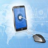 Begrepp för mobil beräkning Fotografering för Bildbyråer