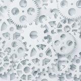 Begrepp för modern mekanism för vektor industriellt Teknologi utrustar bakgrund Royaltyfri Foto