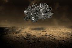 Begrepp för moln för datorinternetdata Royaltyfri Foto