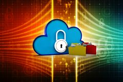 begrepp för moln för tolkning 3d beräknande, molnnätverk Arkivfoton