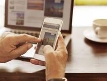 Begrepp för nätverkande för internetteknologi modernt Royaltyfri Foto