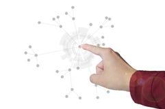 Begrepp för nätverksstruktur Arkivfoto