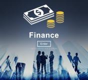 Begrepp för nationalekonomi för finansiella pengar för finans kontant stock illustrationer