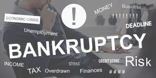 Begrepp för nedgång för finanskris för konkurs för affärsfel Royaltyfria Foton