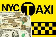 Begrepp för NYC-taxibiljettpris Royaltyfri Foto
