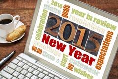 Begrepp för nytt år 2015 Arkivfoto