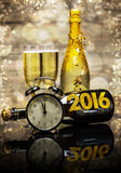 Begrepp för nytt år 2016 royaltyfria bilder