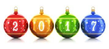 Begrepp 2017 för nytt år stock illustrationer