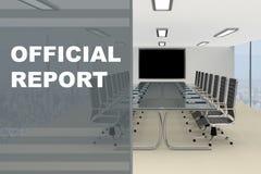 Begrepp för officiell rapport vektor illustrationer