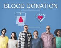 Begrepp för omsorg för hjärta för hjälpmedel för bloddonation royaltyfri foto